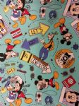 NEW! MICKEY MOUSE GOOFY EXPLORER - Fabric 100% Cotton - Price Per Metre